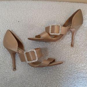 Badgley miskchka gold satin heels